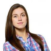 Smiling teenager girl — Stockfoto