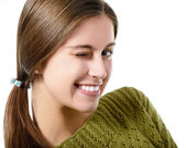 Smiling teenager girl — Stock Photo