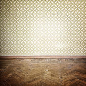 Vintage empty  room — Stock Photo