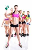 Fitness girls — Stock Photo