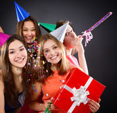 Girls on birthday party — Stock Photo