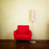 Old  red armchair — Stock Photo