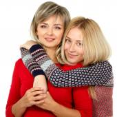 Mother and teen daughter — Stockfoto