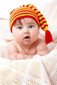 Cute baby smiling, beautiful kid's face — Stock Photo