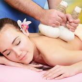 Woman getting massage — Stock Photo