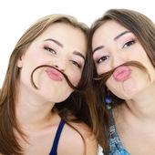 Two funny girls — Foto de Stock