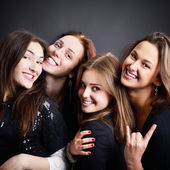 Party teen girls — Stock Photo
