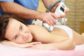 Woman getting massage — Stock Photo