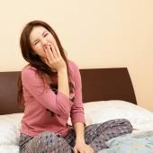 Girl in pajamas — Stock Photo