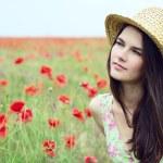 Girl in straw hat — Stock Photo #52020245