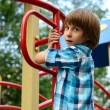 Boy playing on playground — Stock Photo #52021173
