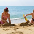 Brother and sister on beach — Stock Photo #52021189