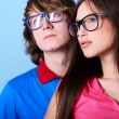 Fashionable young couple — Stock Photo #52021387