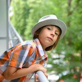 Little boy in hat — Stock Photo