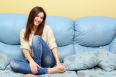 Teen girl at home — Stock Photo