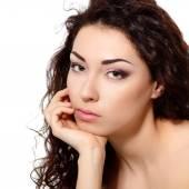 Giovane donna con pelle pulita — Foto Stock