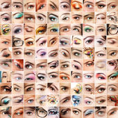 Eyes 100 set. — Stock Photo