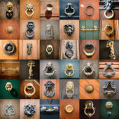Doorknobs of  doors in Rome — Stock Photo