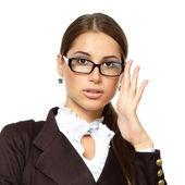 Interesu w okularach — Zdjęcie stockowe