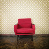 Vintage red armchair — Stock Photo