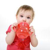 Pití holčička — Stock fotografie