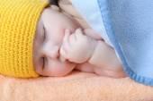Cute sleeping baby boy — Stock Photo