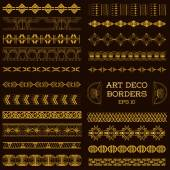 Art Deco Vintage Borders and Design Elements - hand drawn — Stockvector