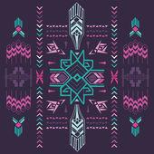 Tribal Vintage Aztec Background - hand drawn in vector — Stock Vector