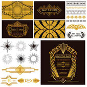 ART DECO OR GATSBY Party Set - for Wedding — Stock Vector
