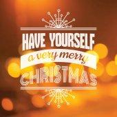 Christmas Calligraphic Card - for invitation, congratulation — Vector de stock