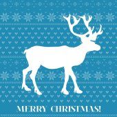 Christmas Card - Scandinavian Knit Style - in vector — Stock Vector