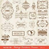 Vector Set: Christmas Calligraphic Design Elements — Stock Vector