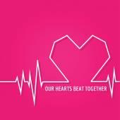 Heart Beat - Love Design for Valentine's Day Logo - in vector — Stock Vector