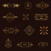 Art Deco Vintage Frames and Design Elements - in vector — 图库矢量图片