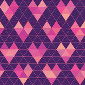 Seamless Pattern - Geometric Hearts - in vector — Vetorial Stock