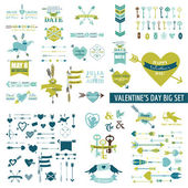 Huge Valentine's Day Set - over 100 elements — Wektor stockowy