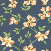 Transparente fondo chic shabby floral - en vector — Vector de stock