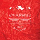Valentine's Day Card - with Love Quote - in vector — Stockvector