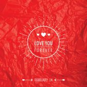 Valentine's Day Card - with Love Quote - in vector — Stock Vector