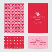Valentine's Day Card Set  - in vector — Stock vektor