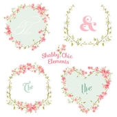 Flower Banners and Tags - for your design and scrapbook — Stock Vector