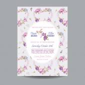 Baby Arrival or Shower Card - with Floral Blossom Design — Stock vektor