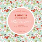 Baby Arrival or Shower Card - with Violet Rose Flower Design — Stock Vector