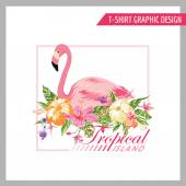 Floral Shabby Chic Graphic Design - for t-shirt, fashion, prints — Stock Vector