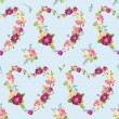 Spring Hearts Flowers Backgrounds - Seamless Floral Shabby Chic Pattern — Stock Vector #74682741