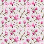 玉兰花背景-老式无缝模式 — 图库矢量图片