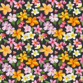 Tropical Flowers Background - Vintage Seamless Pattern — Stock Vector