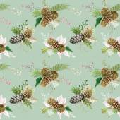 Vintage Christmas Background - Seamless Pattern - vector — Stock Vector