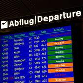 Terminal Info Board - 19 — 图库照片