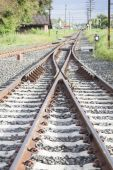 Junction of the railway — Stock Photo
